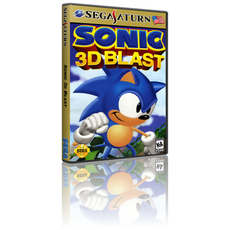 Sega Saturn CD Rom Sonic 3D