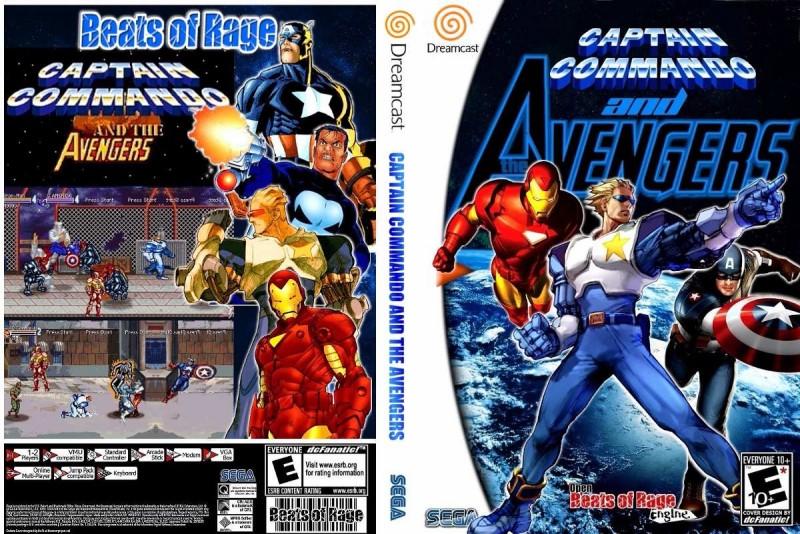 Captain Commando and Avengers DreamCast CD Rom